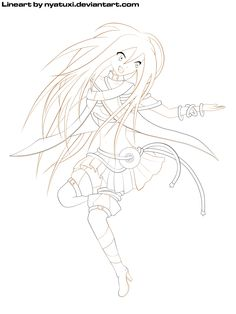 VOCALOID 3 Lily free lineart - Dance by Nyatuxi.deviantart.com on @DeviantArt