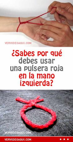 ¿Sabes por qué debes usar una pulsera roja en la mano izquierda?