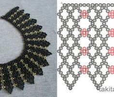 Best Seed Bead Jewelry 2017 Netting schema from Beads Magic Seed Bead Tutorials Diy Necklace Patterns, Beaded Bracelet Patterns, Beading Patterns, Crochet Patterns, Seed Bead Bracelets, Seed Bead Jewelry, Bead Jewellery, Seed Beads, Diy Jewelry