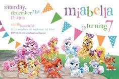 Disney Princess Palace Pets Theme - Birthday Invitation- DIY Printable Invitation - By Cici and Bobo