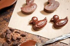 Molded chocolates, whether for serving on their own or as an edible garnish for cakes and desserts, add an elegant touch to the sweets tray. Chocolate Chip Cookies, Chocolate Candy Recipes, Chocolate Candy Melts, Melting Chocolate Chips, Melted Chocolate, Chocolate Cupcakes, How To Make Chocolate, Homemade Chocolate, Vegan Chocolate