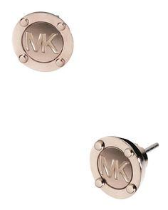 Astor Logo Stud Earrings, Rose Golden by Michael Kors at Neiman Marcus.