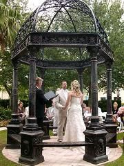 This is the lovely and tranquil Garden Gazebo at the Omni Orlando Resort ChampionsGate.