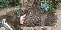 Double digging is the process of digging deeply to ensure soil is light and porous down deep. Garden Soil, Herb Garden, Different Plants, Fertility, Black Gold, Herbs, Algarve, Landscape, Jessie