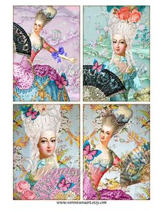 Marie Antoinette fan chic french images
