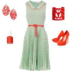 Mint and red. Omg these colors :)
