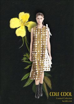 Modern gold jacquard asymmetric Dress with Leather bows by LaCoHK on Etsy