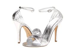 Barney Stinson would approve of these legendary metallic sandals from Chinese Laundry, which are actually called – wait for it – Legendary. A gold strappy sandal is close to a wa… Silver Shoes Heels, Gold Strappy Sandals, Metallic Sandals, Cruise Outfits, Cruise Clothes, Evening Sandals, Chinese Laundry, All Fashion, Bridal Accessories