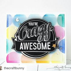 How awesome is this card by Amy @thecraftbunny? CRAZY AWESOME! Amy is over on our blog today. You'll want to visit to learn more about how this card was created learn more about Amy and see another project! P.S. Be sure to follow Amy to be inspired daily.  #guestdesigner #crazyawesome  #Repost @thecraftbunny with @repostapp  My first @concordand9th card as a guest designer. This stamp set is so happy!!! I love it  More details on my blog! Don't forget to check out the new @concordand9th…