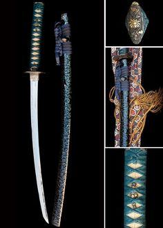 Wakizashi Momoyama Sword Dated: 16th Century Culture: Japan Medium: Steel, iron, gold, lacquer
