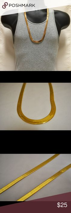 """Men's 24K Gold Overlay Herringbone Chain 30"""" 10mm Attn: ASAP Rocky, Hip Hop, Recording Artists, Young Boss, 2pac. This chain is one of the best gifts to buy for a friend! Shines great, looks great! All chains are brand new and come in new packaging. Buy one for yourself or for a friend today! Please note: this chain is gold PLATED and is not real gold. Spec: Length: 30"""". Width: 10mm. Weight: Approximately 2.2 Grams Per Inch. Finish: 24 Gold Plated. Handmade item. Made to order. Jewelry…"""