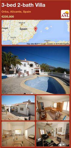 3-bed 2-bath Villa in Orba, Alicante, Spain ►€235,000 #PropertyForSaleInSpain