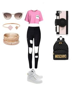 """""""Untitled #12"""" by tieraali on Polyvore featuring Kate Spade, Moschino, Michael Kors, Red Camel and Gucci"""