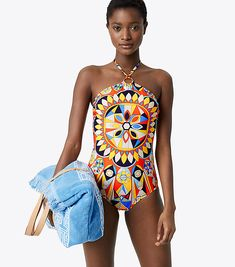 b798d907320e Visit Tory Burch to shop for Kaleidoscope One-piece and more Womens View  All.