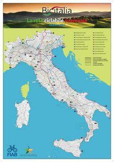 Bicitalia, la prima grande mappa delle rete cicloturistica d'Italia, realizzata grazie alla Fiab, Federazione Italiana Amici della Bicicletta, e al Ministero dell'Ambiente, e consultabile sul sito www.bicitalia.org