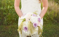 Bridal Flowers - Amaranth, Purple Roses, Pink Roses, Hydrangeas
