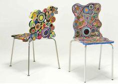 Estos muebles utilizan materiales reciclados y están inspirados en las fabelas y barrios marginales brasileños.
