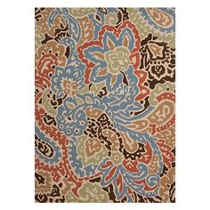 Indoor/outdoor rug with a paisley-inspired design. Joss  Product: RugConstruction Material: Polypropylene...