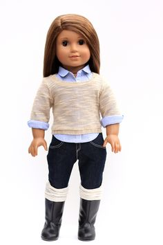 Button Up Shirt featured in Le Marais   Liberty Jane Couture Doll Clothes and Sewing Patterns
