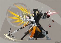 Overwatch: Life and Death Tango by Fulcrumb. Mercy and Reaper.