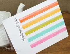 Make It Monday #99: Repeats & Rainbows - Scalloped Stripes Card by Nichole Heady for Papertrey Ink (January 2013)