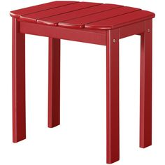 Adirondack End Table ($50) ❤ liked on Polyvore featuring home, furniture, tables, accent tables, no color, acacia wood furniture, adirondack table, adirondack furniture, colored end tables and red side table