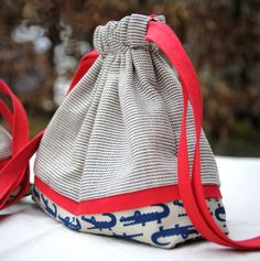 Drawstring Bag Pouch Tutorial