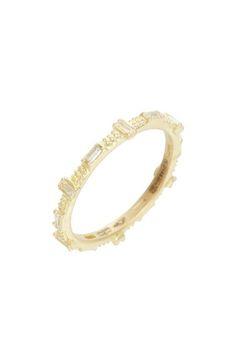 Armenta Old World Sueno Six-Sapphire Baguette Ring with Diamonds YQlSirncJ3