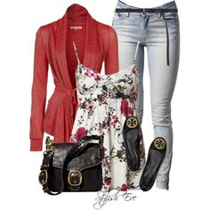 """""""Cardigan and Cami"""" by stylisheve on Polyvore"""