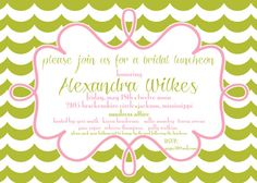 Bridesmaids Luncheon Invitation by pisforpartypapers on Etsy