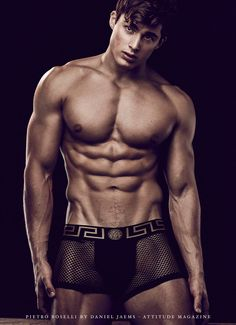 de5cc03d95 Italian model and former mathematics lecturer Pietro Boselli photographed  by Daniel Jaems and styled by Joseph · Versace UnderwearMen s UnderwearMale  ...