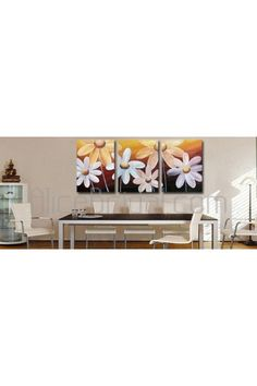 Hand-painted Abstract Oil Painting with Stretched Frame-Set of 3 - Alice Bridal