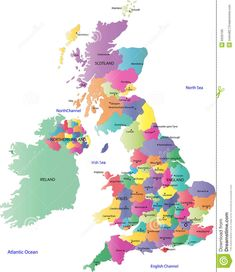 Map Of Uk And Ireland Map Of Uk Counties In Great Britain