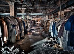 Abandoned clothing factory in Maryland.