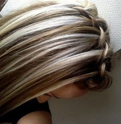 chocolate brown hair with chunky blonde highlights Regarding ...