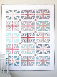Meet my new and improved Union Jack Quilt Pattern: Regent Street by Amy Smart. These Union Jack quilt blocks are great for Fat Quarters. Quilting Projects, Quilting Designs, Quilting Patterns, Amy Smart, Fat Quarter Quilt, Modern Quilt Patterns, Traditional Quilts, Quilt Sizes, Crafts For Girls