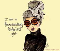 Ilustration girl by Ilce Valfre - can you tell I adore Valfre's illustrations?!