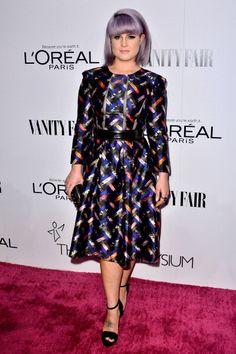 Kelly Osbourne at the Vanity Fair Art of Elysium Event. Styled by	Caley Lawson.