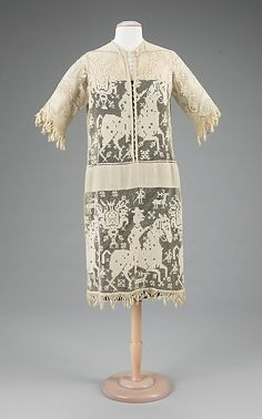 Dress Date: ca. 1920 Culture: probably French Medium: linen, cotton Dimensions: Length at CB: 42 in. (106.7 cm)