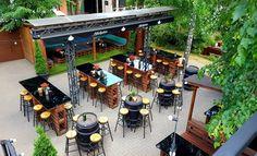 Bar backyard design. Bar summer yard. Irish Pub Interior, Bar Interior, Interior And Exterior, Exterior Design, Backyard, Table Decorations, Summer, Home Decor, Patio