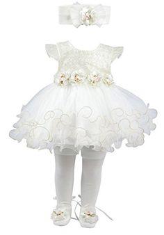Taffy Baby Girl Newborn Gold Glitter Floral Dress Gown 6 Piece Deluxe Set 0-3 Months T.F. Taffy http://www.amazon.com/dp/B01615CUHI/ref=cm_sw_r_pi_dp_zlJEwb1NQMDA2