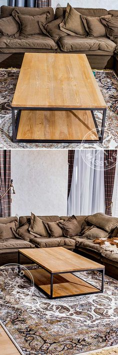 Coffee table Lofty. Coffee table in the Loft style. mdf, oak veneer and metal   Кофейный столик Lofty. Стол кофейный в стиле Лофт. Мдф, шпон дуба и металл. #coffeetableloft