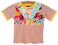 Vintage T-Shirt / Handmade / Shirt / Top / Tee - Sunrise Surprise / Size 2T / short sleeves READY TO SHIP