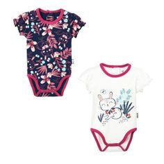 201359c96ed44 Lot de 2 bodies manches courtes bébé fille Pink Bunny - PETIT BEGUIN
