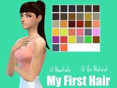 Simsworkshop: My First Hair by Lovelysimmer100  - Sims 4 Hairs - http://sims4hairs.com/simsworkshop-my-first-hair-by-lovelysimmer100/