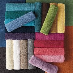 This signature collection of super chunky looped bath rugs put a stylish spin on the classic look.
