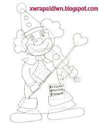 Κλόουν Carnival Crafts, Clown Party, Circus Clown, Corpus Christi, Stencil Designs, Paper Piecing, Cool Kids, Decoration, Coloring Pages