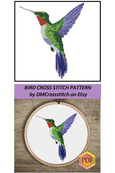 Easy Cross, Simple Cross Stitch, Cross Stitch Charts, Modern Cross Stitch Patterns, Cross Stitch Designs, Watercolor Bird, Embroidery Hoop Art, Cute Pattern, Crossstitch