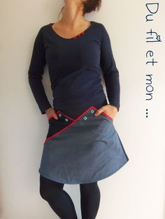 Du fil et mon. Style Couture, Couture Tops, Couture Fashion, Made Clothing, Diy Clothing, Sewing Clothes, Designer Kurtis, Beautiful Outfits, Cool Outfits