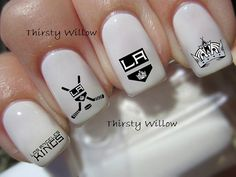 Los Angeles Kings Nail Decals by ThirstyWillow on Etsy